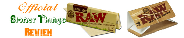 StonerThings.com | Raw Rolling Papers Official Review