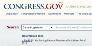 Congross.gov most viewed bill
