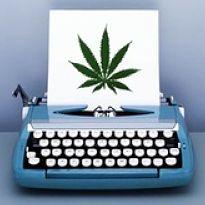 typewriter marijuana leaf