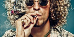 dude smoking joint