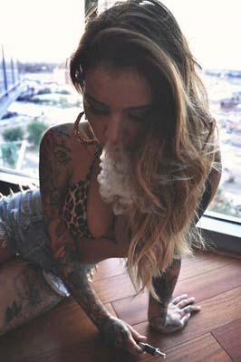 Smoke and tats.