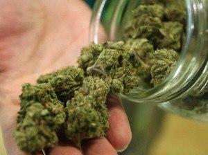 marijuana glass jar