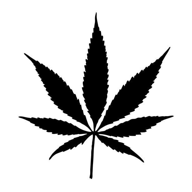 marijuana leaf outline