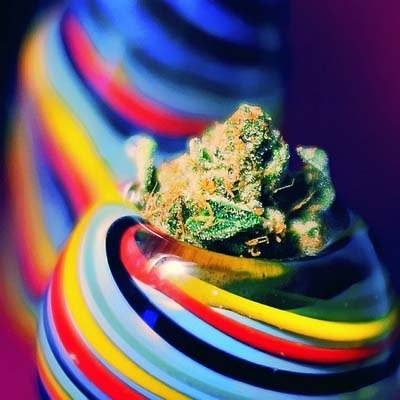 Weed in a rainbow!