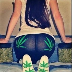 marijuana leaf ass