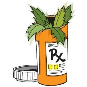 medical marijuana in bottle