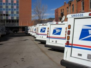 post office mail trucks