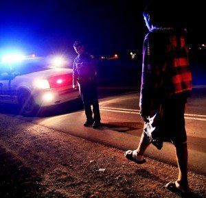 roadside sobriety test