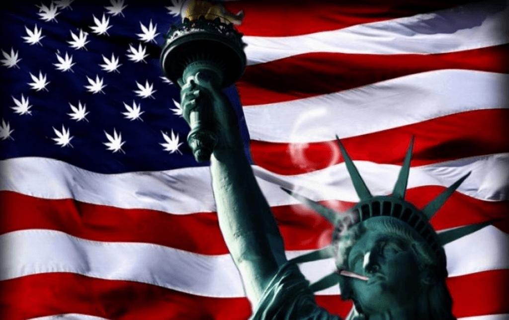 statue liberty marijuana joint