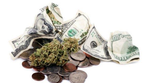 crumpled money weed