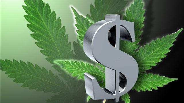 marijuana leaves dollar