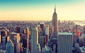 Sky scrapers in New York