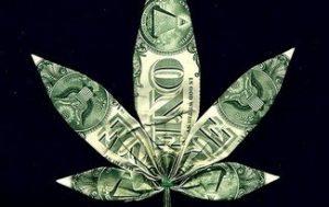 one dollar marijuana leaf