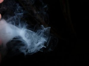 smoke from mouth