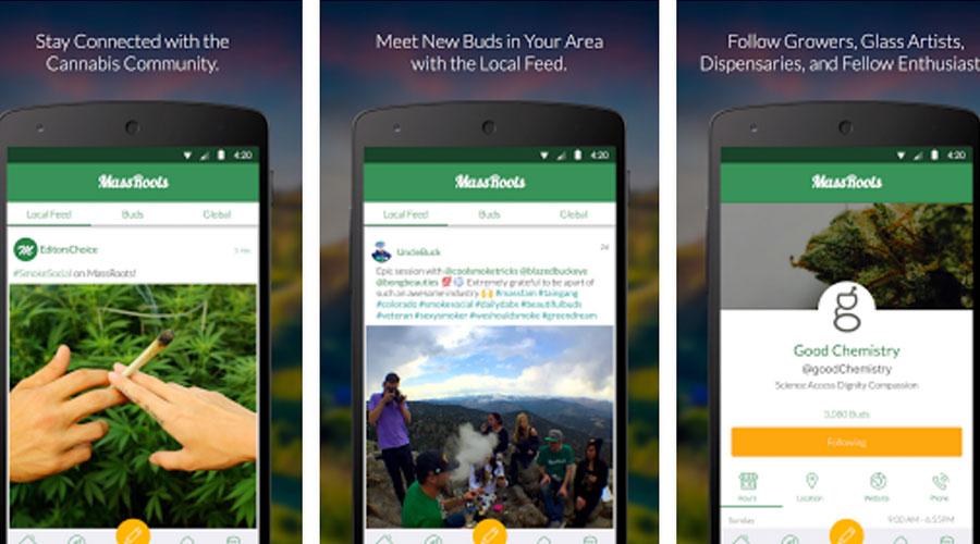 Massroots Marijuana App