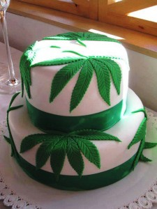Marijuana Wedding Cake