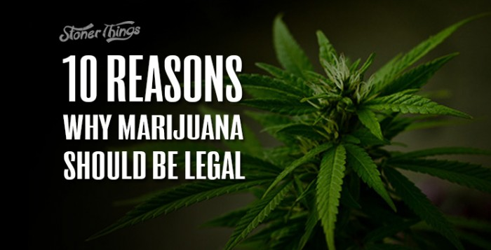Marijuana should be legalized essay
