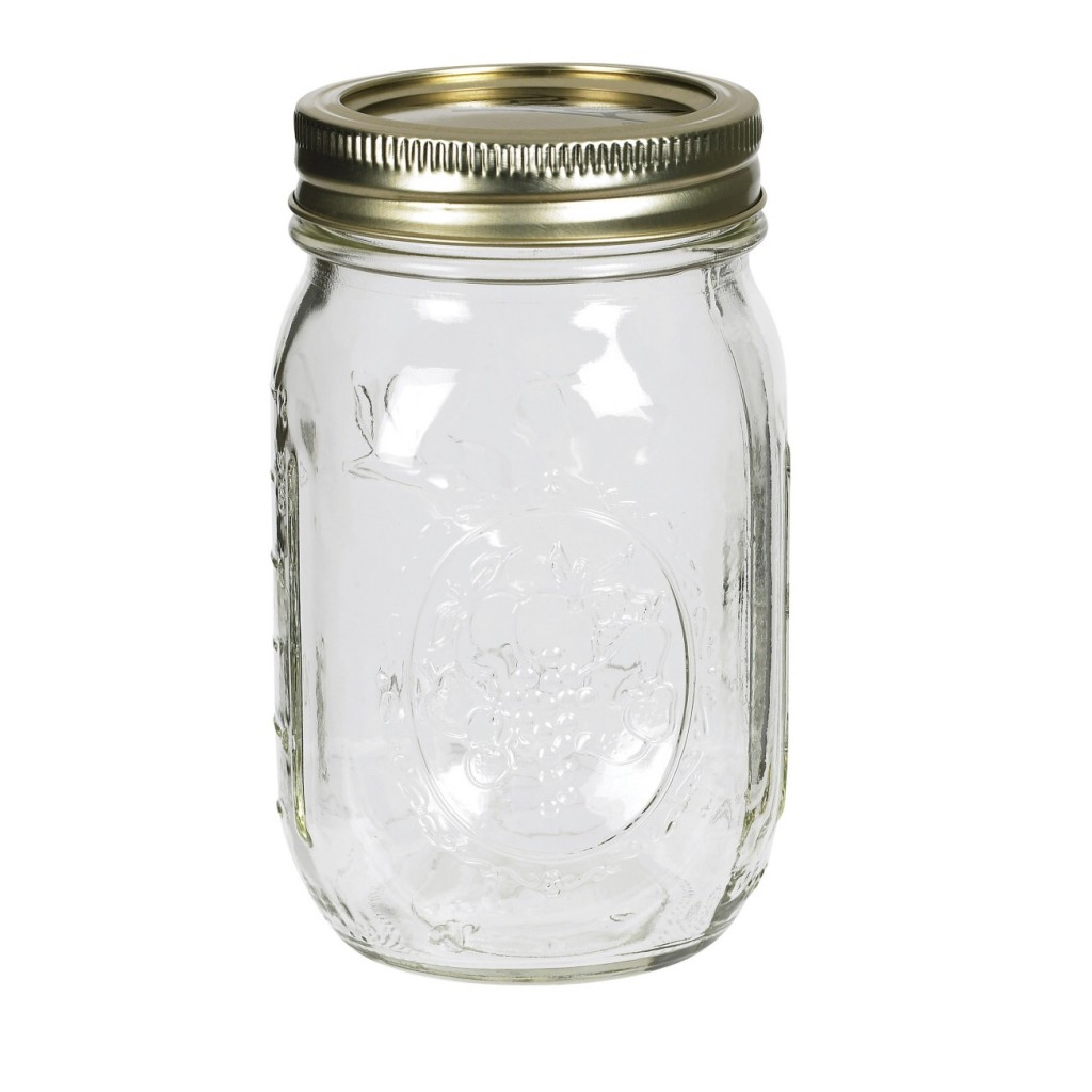 Old fashioned glass jars 32