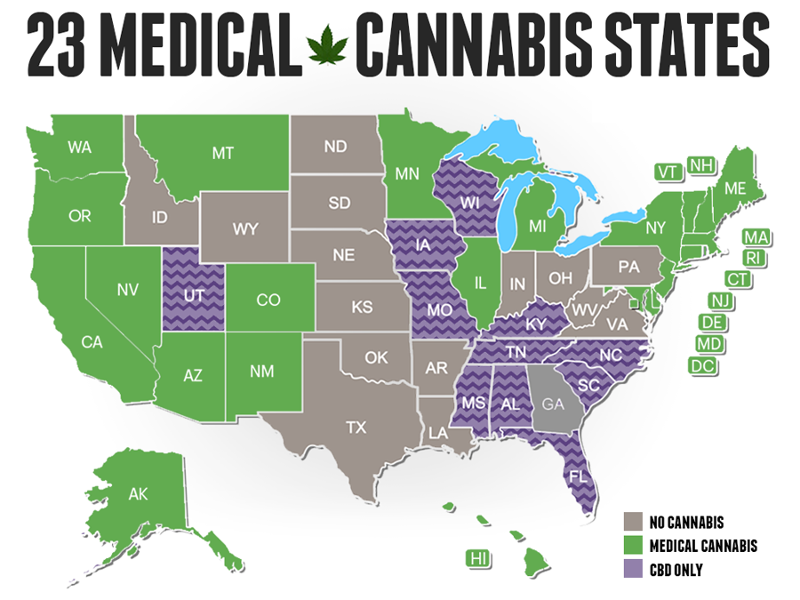 states with medical cannabis
