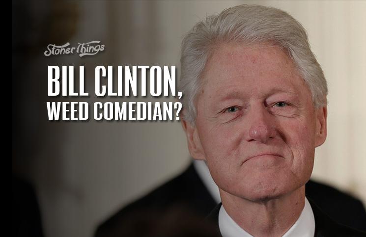 Clinton smoking weed