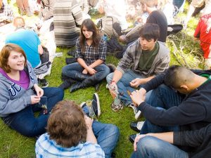 Marijuana Smoking Circle
