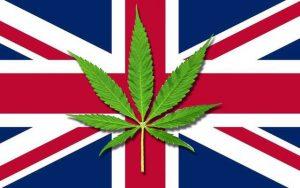 UK British Flag Marijuana