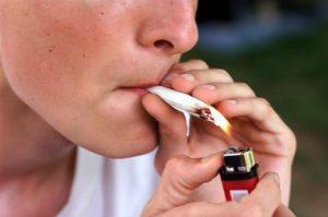 Smoking Marijuana Joint
