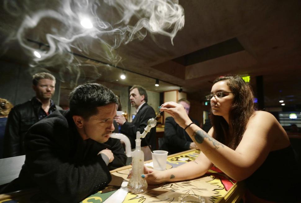 An illicit cannabis club