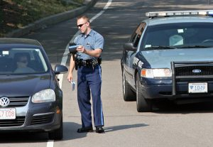 Traffic Stop, Massachusetts State Police