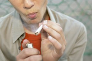 Teenager Smoking Marijuana Joint