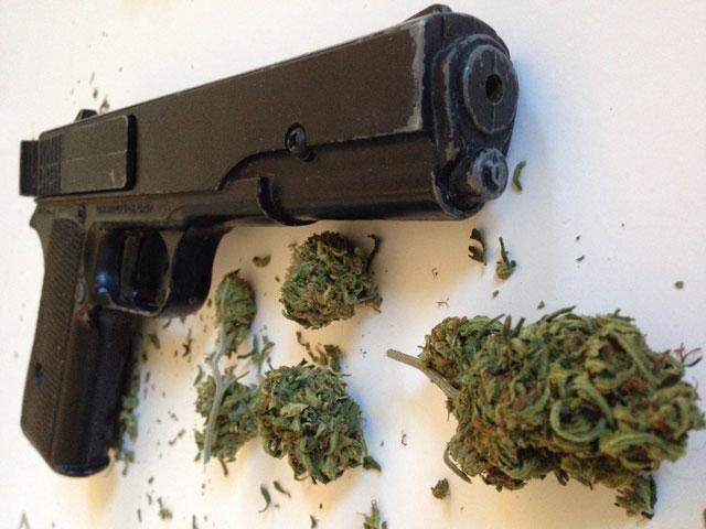 Handgun and Marijuana