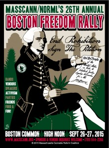 Poster for 26th Annual Boston Freedom Rally, 2015