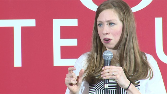 Chelsea Clinton speaks at Youngstown State University in Ohio, Sept. 24, 2016
