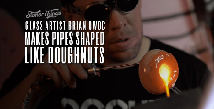 glass artist brian owoc makes pipes shaped like doughnuts