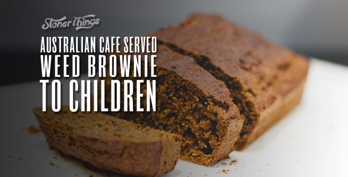 weed brownie served children cafe