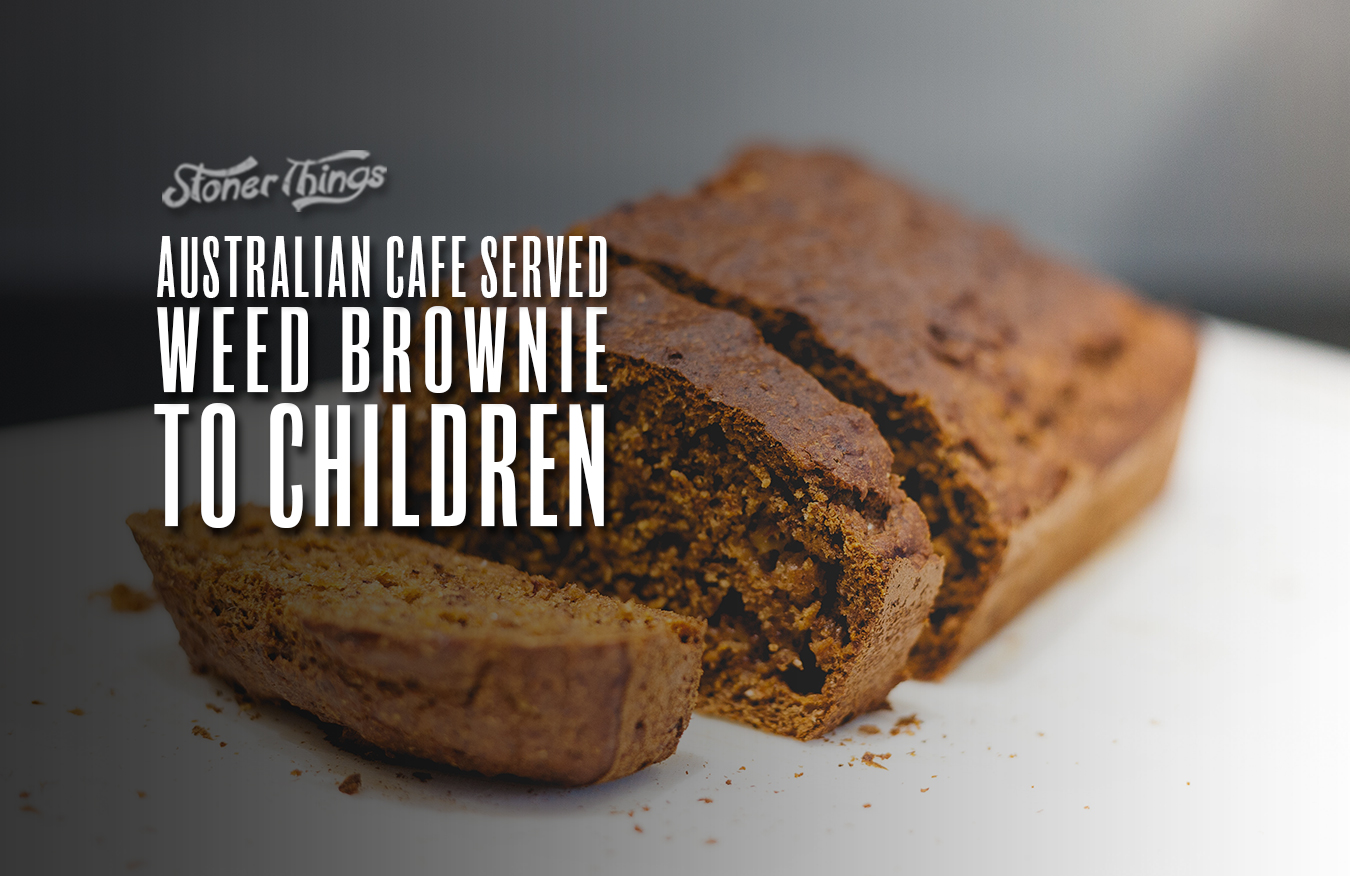 weed brownie served children cafe