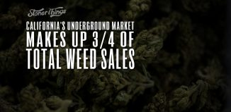 california underground market three quarters weed sales