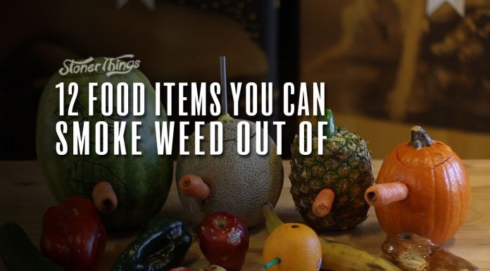 food items smoke weed out of