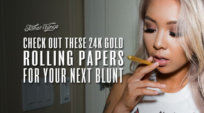 24k gold rolling papers shine_