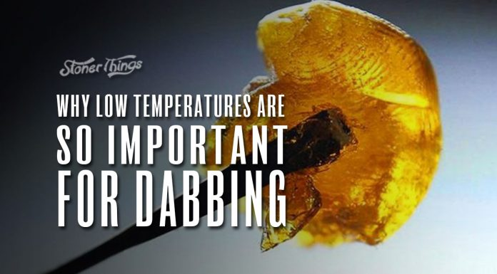 low temperatures important dabbing