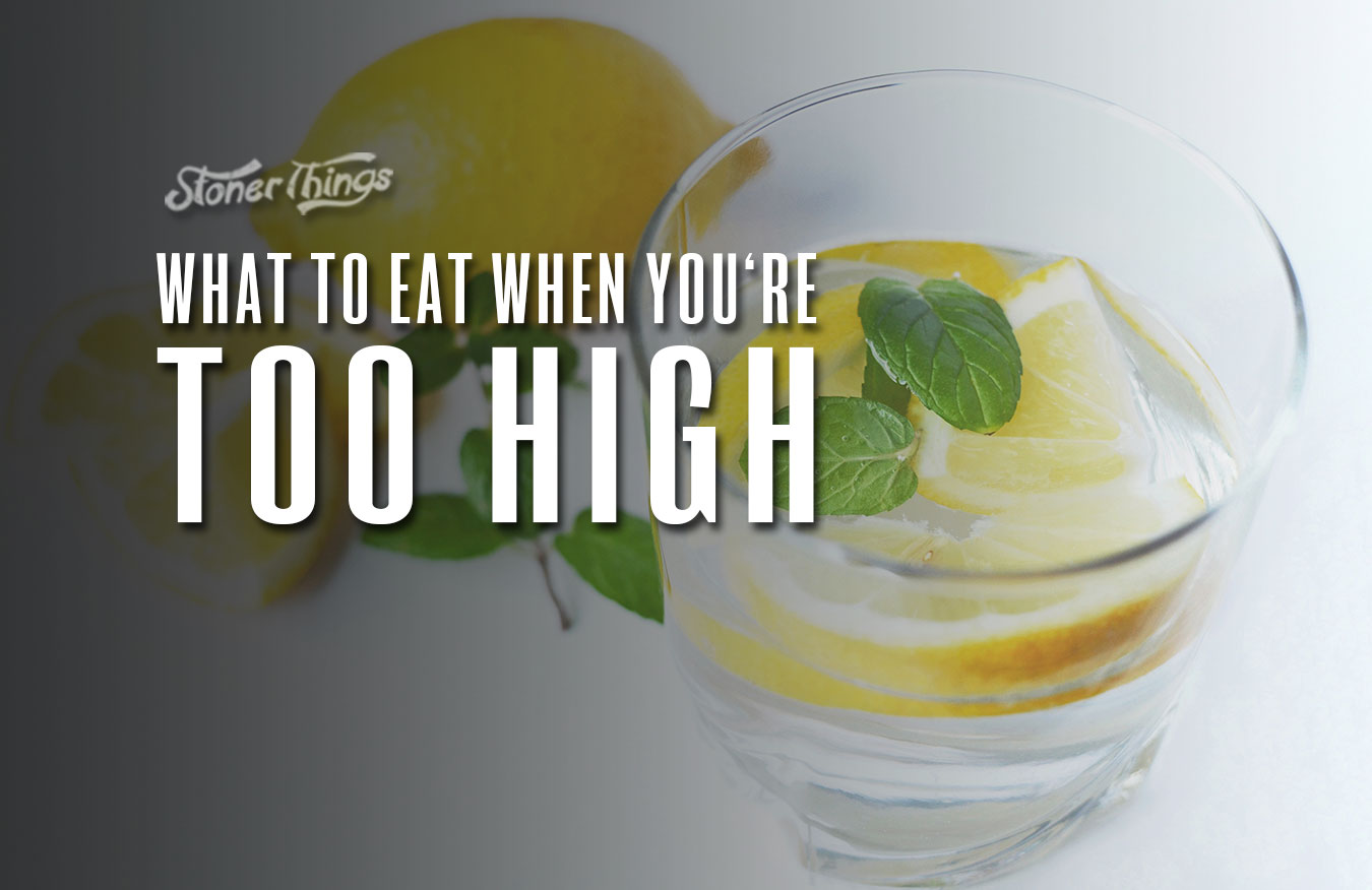 what to eat when too high
