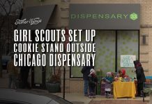 girl scouts sell cookies dispensary