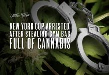 new york cop arrested stealing bag of weed