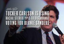 tucker carlson racial stereotypes bernie sanders