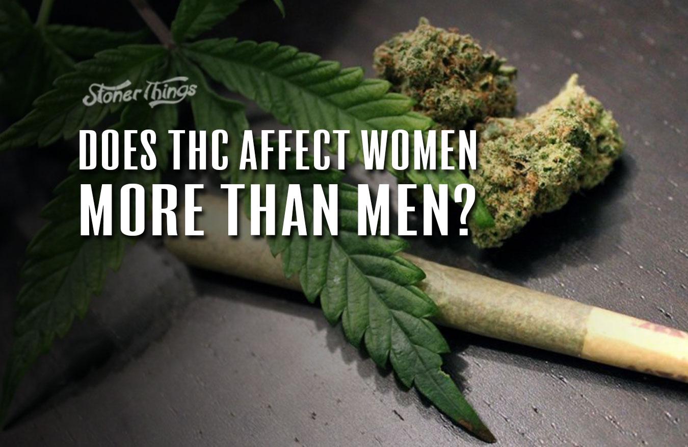 women vs men thc