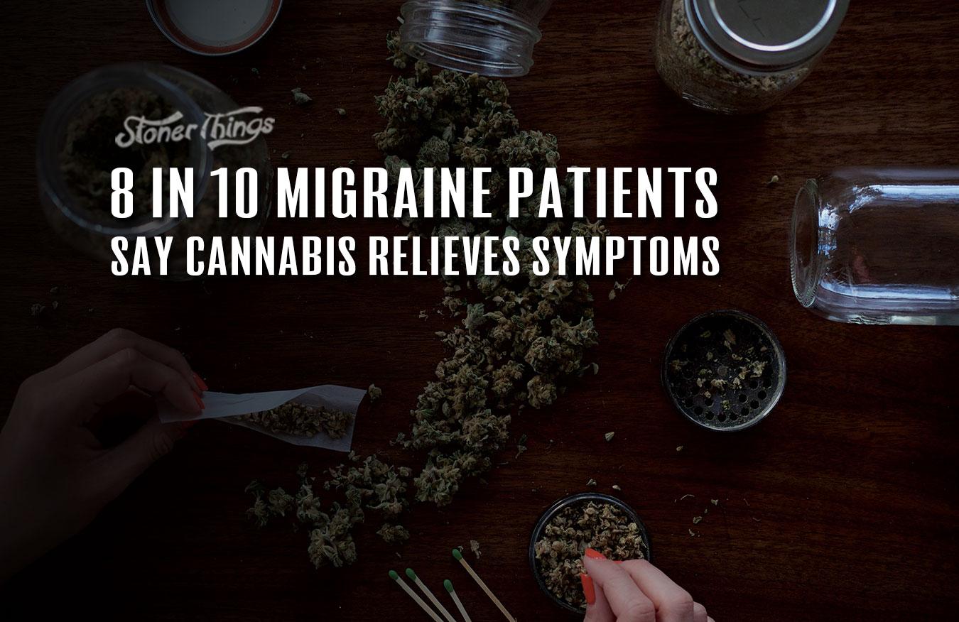 migraine patients relieved cannabis