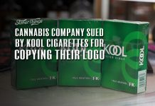 cannabis company sued kool cigarettes copying logo