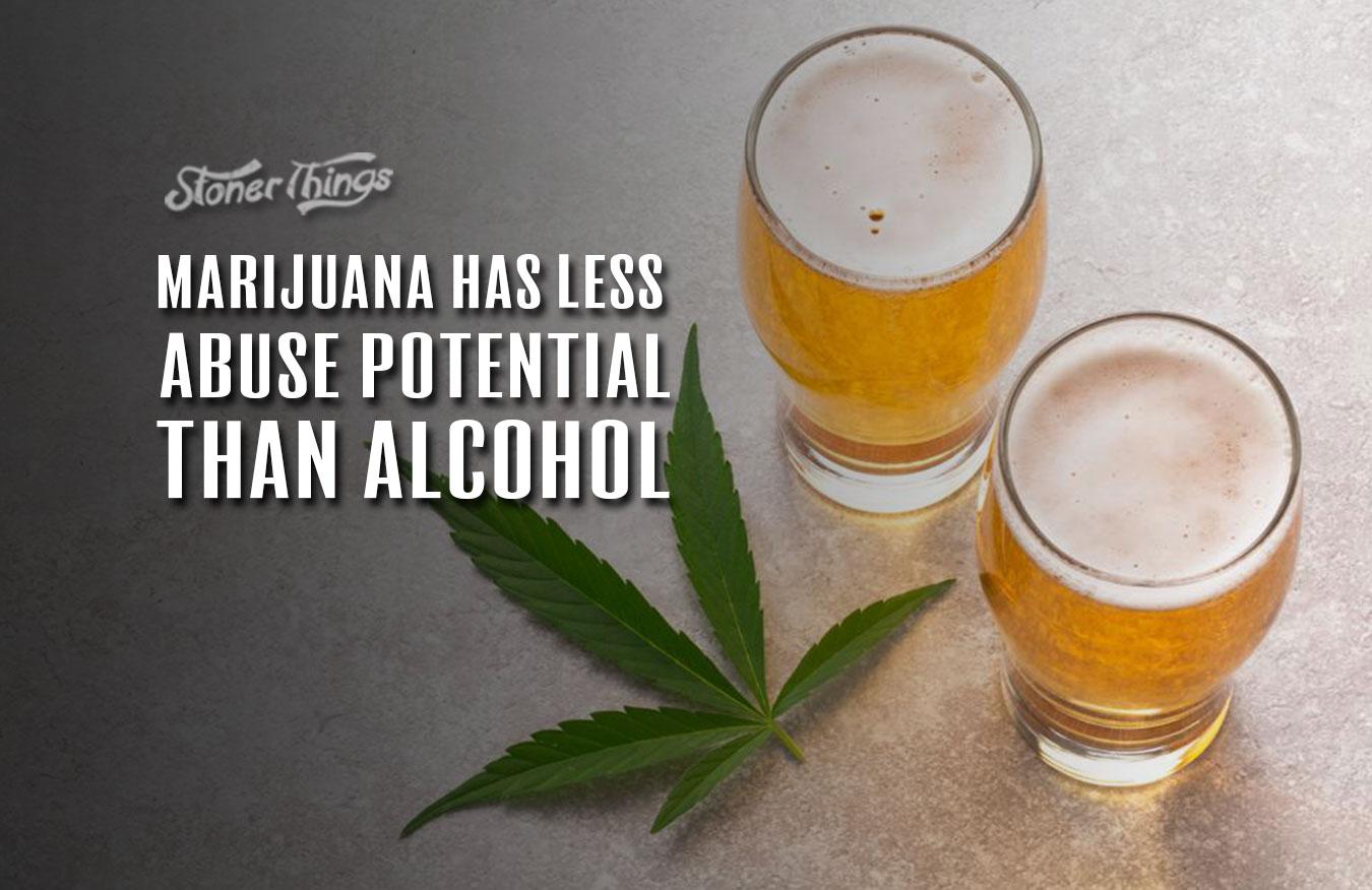 marijuana less abuse potential that marijuana