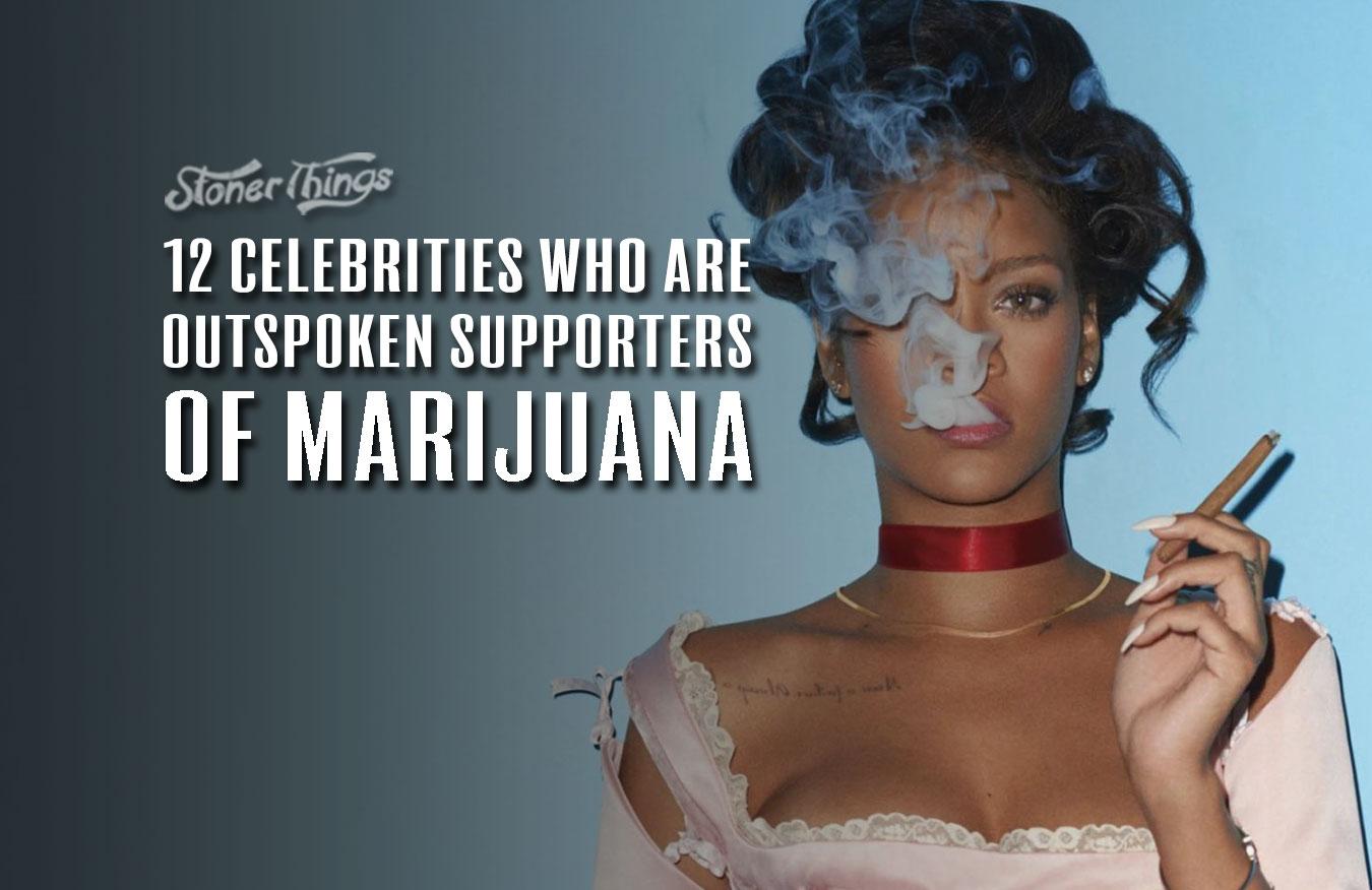 celebrities who love marijuana