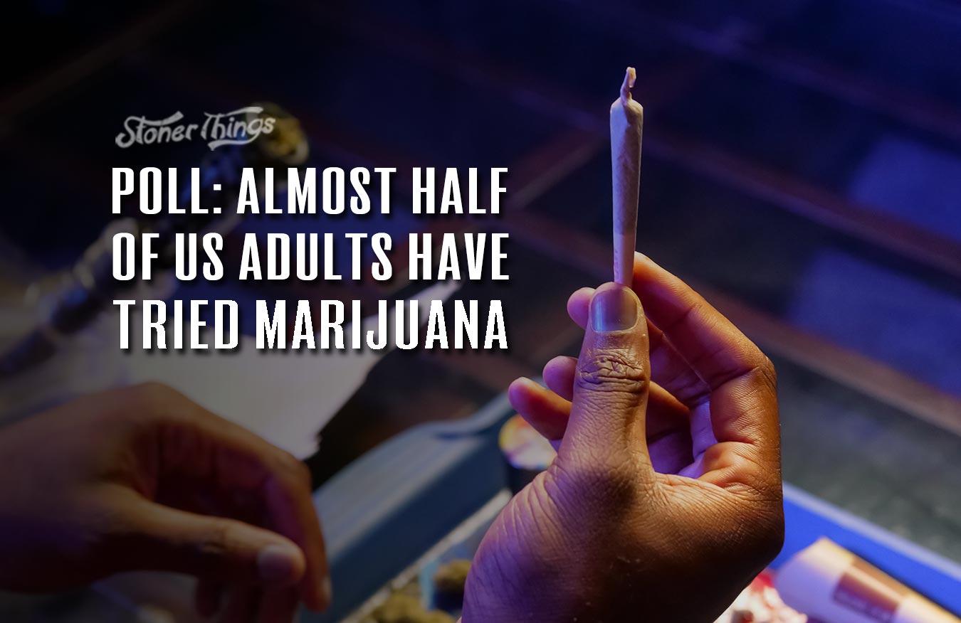 half us adults tried marijuana